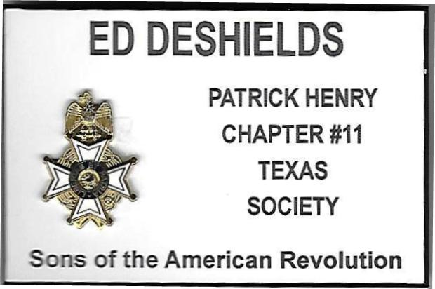 Patrick Henry Chapter Custom Nametag