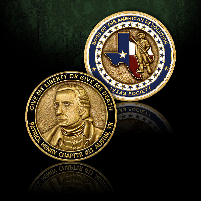 Patrick Henry Chapter Challenge Coin